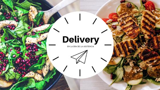 Imagen de gastronomía con icono de avión de origami para conceptualizar el delivery, una acción clave para los negocios gastronomicos