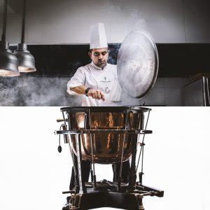 La cocina, representada a través de los fogones del Rincón de Juan Carlos en el Programa 2019-2010 de la Orquesta Sinfónica de Tenerife