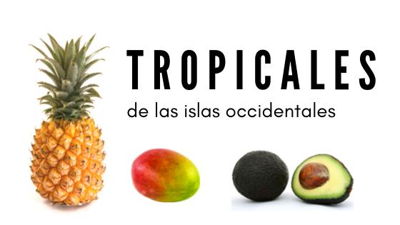 Muestra de una piña, un mango y una aguacate, representativos de las frutas tropicales de Canarias para el artículo de Volcanic Xperience, promovido por GMR Canarias.
